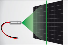 Grüner Linienlaser für helle Laserlinie