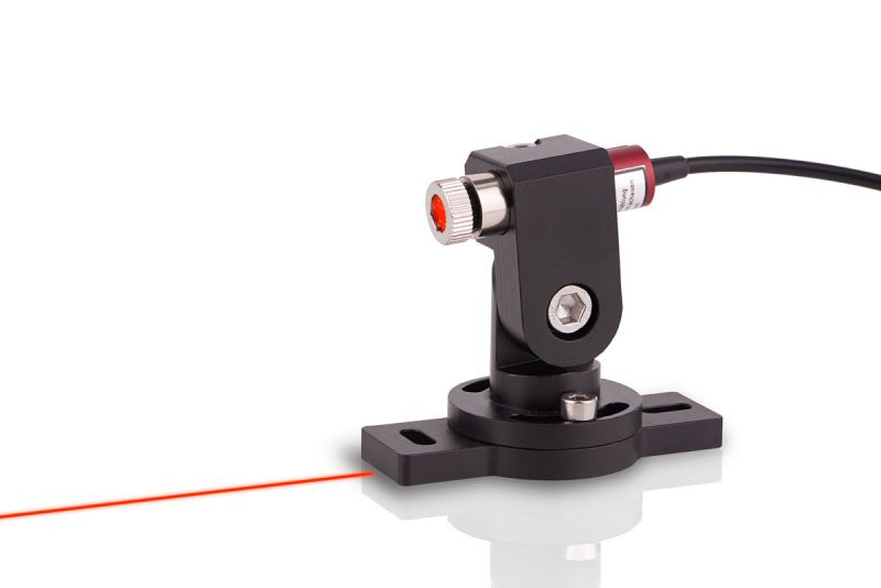 Line laser set BRIGHT RED 20mW, adjustable, incl. mount