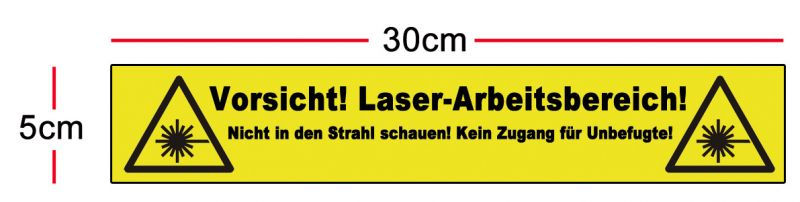 Safety marking 300 x 50mm, in German