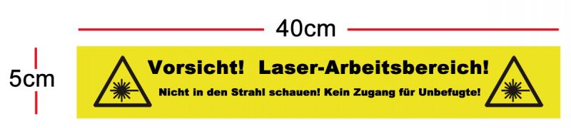 Safety marking 400 x 50mm, in German