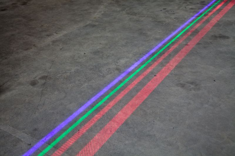 High power line laser red vitual floor marking