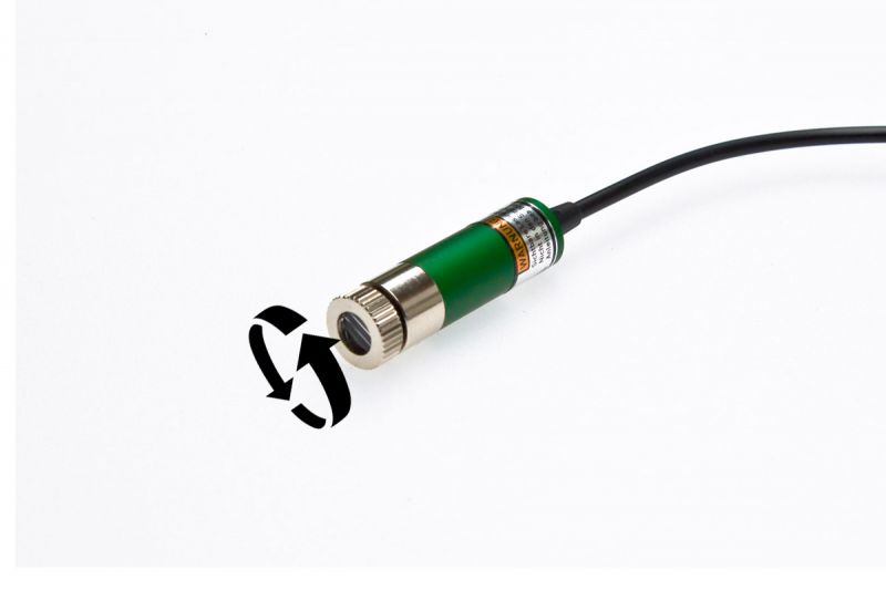 Line laser set 10mW GREEN, adjustable, incl. mount