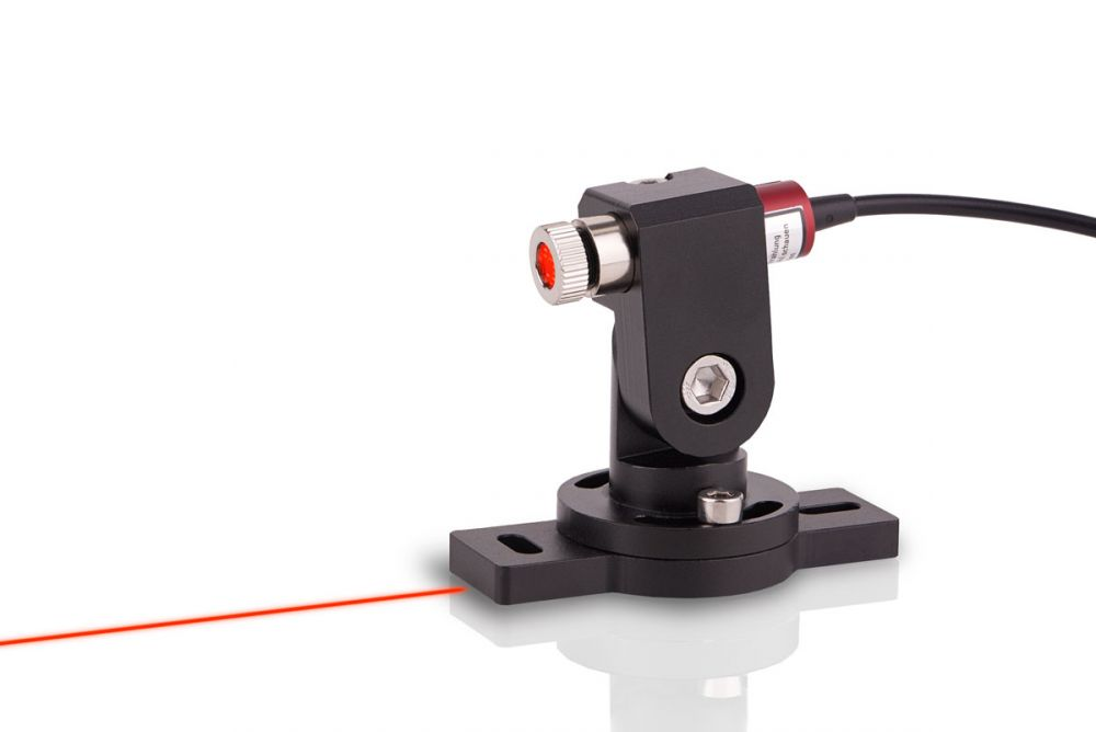 Line laser ready for use with mount