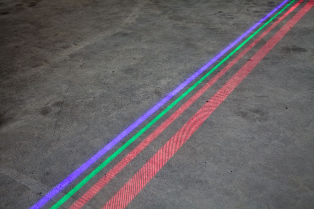 Safety area marking with lasers
