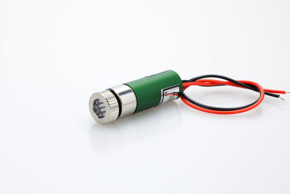 Line Laser module GREEN 25mW, adjustable focus, 12mm housing